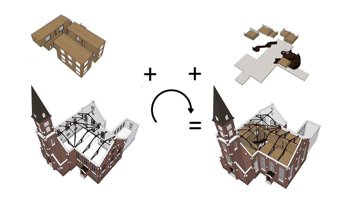 Zaandijkerkerk-Nunc Architecten-schema